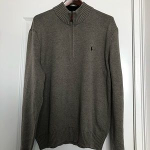 Polo by Ralph Lauren Quarter Zip Gray Sweater